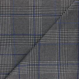 Lurex polyviscose knitted Fabric - blue Gordon x 10cm