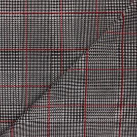 ♥ Coupon 30 cm X 150 cm ♥ Tissu Maille polyviscose lurex Montgomery - rouge