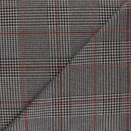 Lurex polyviscose knitted Fabric - rust red Montgomery x 10cm