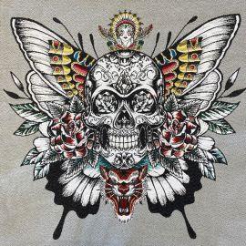Carré Jacquard Skull Soul - Gris