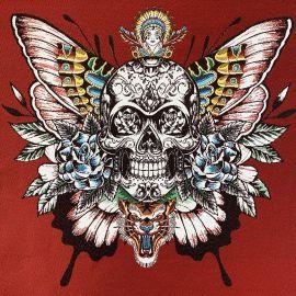 Square Jacquard fabric - Red Skull Soul