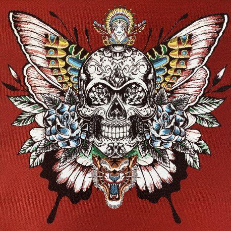 Carré Jacquard Skull Soul - rouge