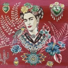 Square Jacquard fabric - black Alma de Frida