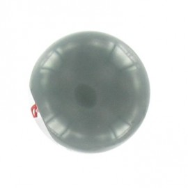 Bouton boule polyester gris