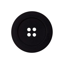 Polyester Button - Black Candice
