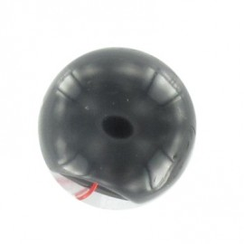 Polyester ball button - black