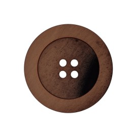 Polyester Button - Brown Candice