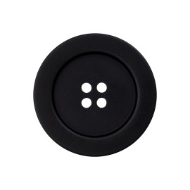 Polyester Button - Black Classique