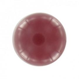 Polyester ball button - burgundy