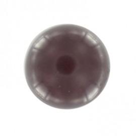 Polyester ball button - garnet red