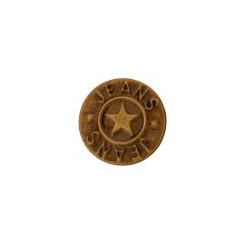 Bouton jeans Étoile - bronze