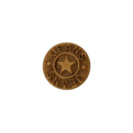 Star jeans button - bronze