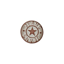 Star jeans button - vintage copper