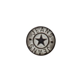 Star jeans button - vintage black