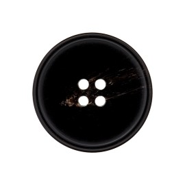 Bouton Polyester Jeanne - Noir