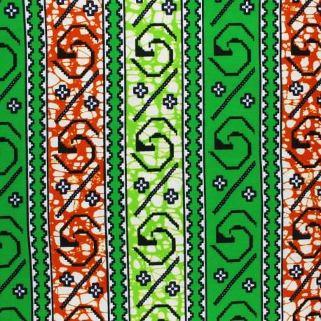 Wax print fabric - green Tokeh x 10cm
