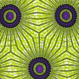 Wax print fabric - green Nwala x 10cm