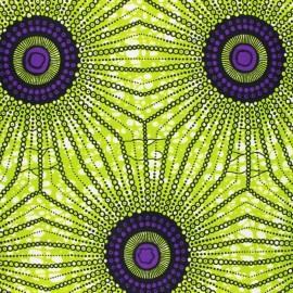 Wax print fabric - green Funkio x 10cm
