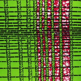 Wax print fabric - green Funkio x 10cm