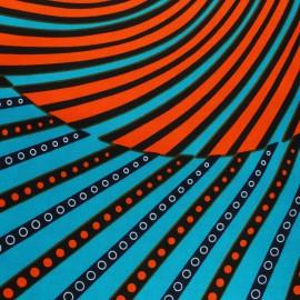 Tissu Wax Fiama - vert x 10cm