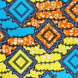 Wax print fabric - blue Luawa x 10cm