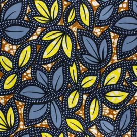 Wax print fabric - blue Yagoi x 10cm
