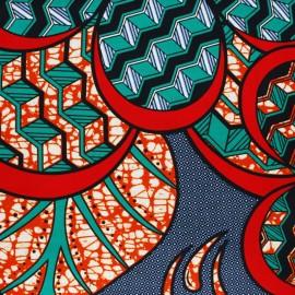 Wax print fabric - blue Mamabu x 10cm