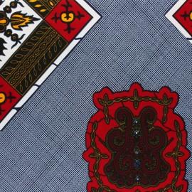 Tissu Wax Mamabu - bleu x 10cm