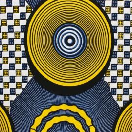 Tissu Wax Maramu - bleu x 10cm