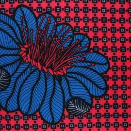 Tissu Wax Timidi - rose x 10cm