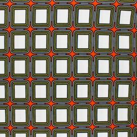 Wax print fabric - Orange Yasasi x 10cm