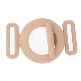 Boucle ceinture ronde rose camay