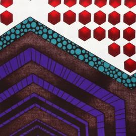Wax print fabric - Purple Matoto x 10cm