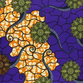 Tissu Wax Matoto - violet x 10cm