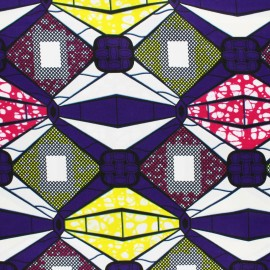 Wax print fabric - Purple Matoto x 10cm