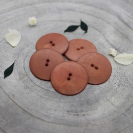 Palm Corozo Button -  Chestnut Atelier Brunette