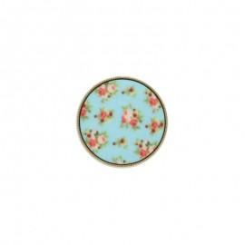 Polyester Button - Blue Garance