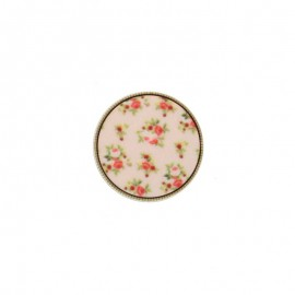Bouton Polyester Garance - Rose pâle
