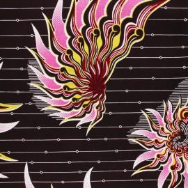 Glittery Wax print fabric - black Conakry x 10cm