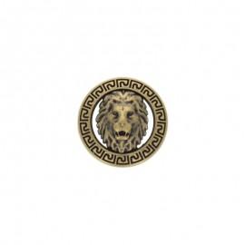 Bouton métal félin - bronze