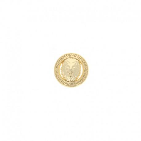 Metal Félin button - Gold