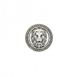 Bouton métal félin - argent