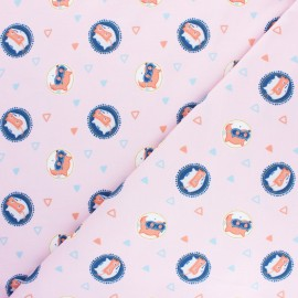 Tissu jersey Les petits Aventuriers - rose x 10cm