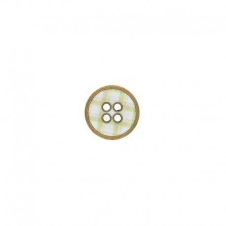 Metal Carreaux button - Green
