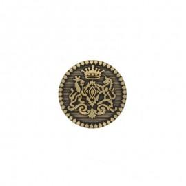 Metal Grimaldi button - bronze