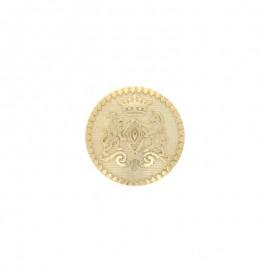 Metal Grimaldi button - gold