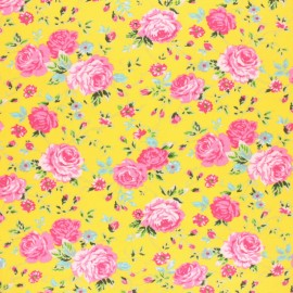 Cotton jersey fabric - yellow Naelle x 10cm