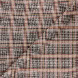 Checked Milano jersey fabric - red Edward x 10cm