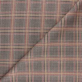 Tissu Jersey Milano à Carreaux Edward - vert x 10cm