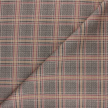 Checked Milano jersey fabric - green Edward x 10cm